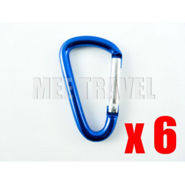 6x Straight-Gate D-Shaped Carabiner (4.0)