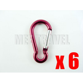 6x Straight-Gate Pear-Shaped Carabiner (4.0)