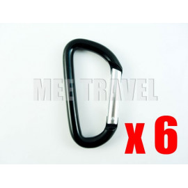 6x Straight-Gate D-Shaped Carabiner (7.0)