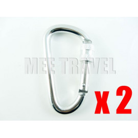 2x Screwgate D-Shaped Carabiner (8.0) (THICK NUT)
