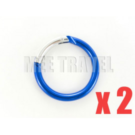 2x Medium Circular Keyrings
