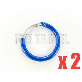 2x Medium Circular Keyrings