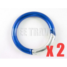 2x Thick Circular Keyrings