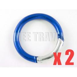 2x Thick Circular Keyrings