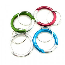 4x Mini Circular Keyrings