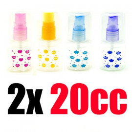 2x Liquid Spray Bottle Elliptical Atomizer 20cc 20ml