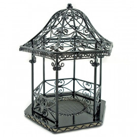 Black Wire New Tropical Garden Beach Hut Jewelry Holder