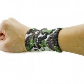Woodland Camo Terry Cloth Sports Wristband Wrist Band