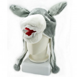 Donkey Mascot Plush Fancy Costume Animals Fur Hat Cap