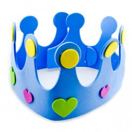 Blue Crown Adult Toddler Fancy Dress Hat Party Costume