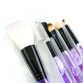 5in1 Cosmetic Brush Set (Small) (PURPLE Pattern)