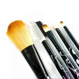 5in1 Cosmetic Brush Set (Small) (BLACK Pattern)