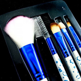 5in1 Cosmetic Brush Set (Small) (BLUE & WHITE)