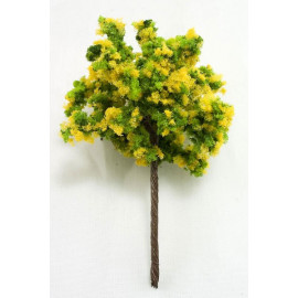 Lot 10 Yellow Green Tree Scale War Train RR Model HO OO