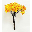 Lot 10 Red Yellow Tree Scale Scene Train RR Model HO