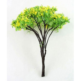 Lot 10 Yellow YGreen Tree Scale Scene Train RR Model HO