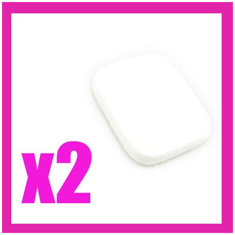 2x Makeup Cosmetic Latex Sponge Square White