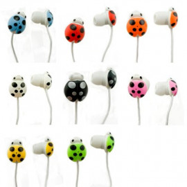 Ladybird Beetle 3.5mm In-Ear Earbuds Headphones for Apple iPod