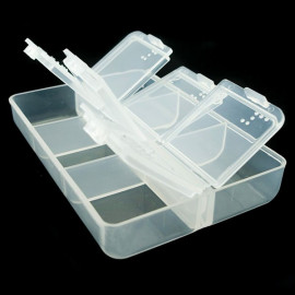 Transparent 6-Tray Medicine Pill Drug Box Pillbox Case