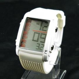 OTS Digital Sports Watch 381 White Display Mens' (WHITE)