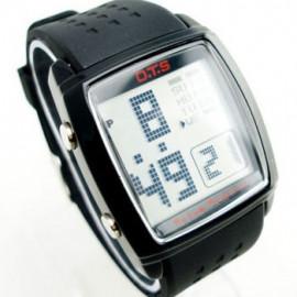 OTS Digital Sports Watch 6336 White Display (BLACK)