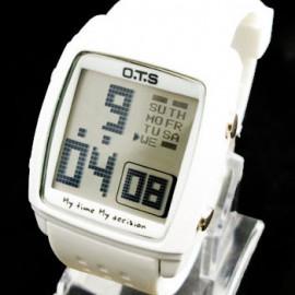 OTS Digital Sports Watch 6336 White Display (WHITE)