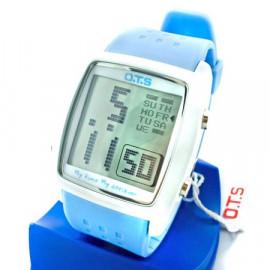 OTS Digital Sports Watch 6336 White Display (LIGHT BLUE)