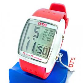 OTS Digital Sports Watch 6336 White Display (RED)