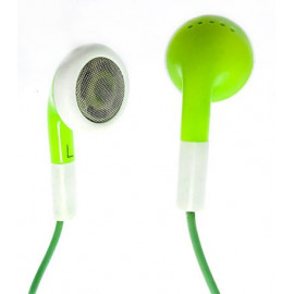 Green Earbuds 3.5mm Earphones for Apple iPod Shuffle