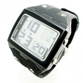 OTS Digital Sports Watch 6337 White Display (BLACK)