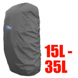 BlueField Backpack Rain Cover 15L to 35L GRAY (Small)