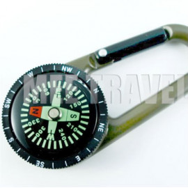 Carabiner with Built-in Compass (Olive)