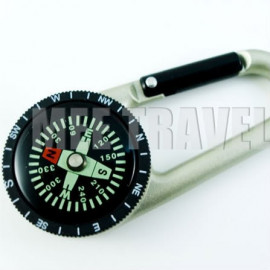 Carabiner with Built-in Compass (Swamp Green)