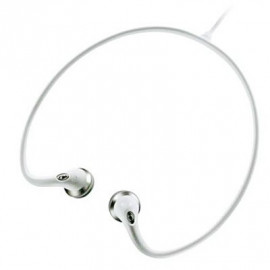 White 3.5mm Earbuds Sports Behind The Neck Headphones