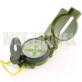Metal Case Liquid-filled Lensatic Compass (Olive)