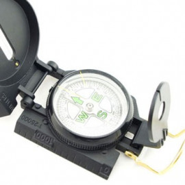 Metal Case Liquid-filled Lensatic Compass (Black)