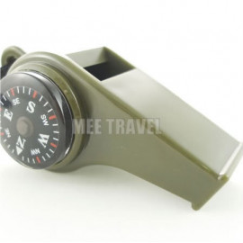 3 in 1 Thermometer Compass Whistle