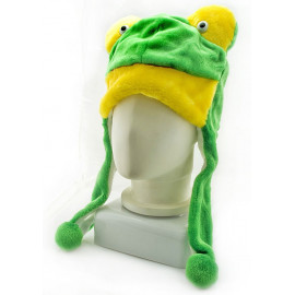 Frog Plush Mascot Fancy Dress Show Costume Mask Fur Hat Cap