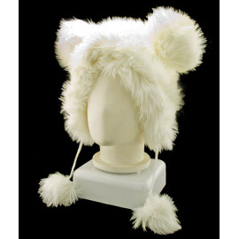 White Mouse Rabbit Mascot Fancy Dress Costume Fur Hat Cap