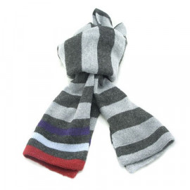 Mini Coloured Stripe Scarf (BLUE & DARK GRAY)