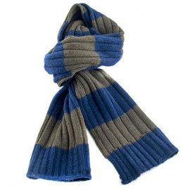 2 Coloured Stripe Scarf (BLUE & GREEN)