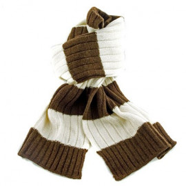 2 Coloured Stripe Scarf (BROWN & BEIGE)