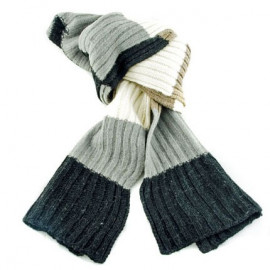 4 Coloured Stripe Scarf (N01)
