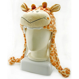 Giraffe Plush Mascot Fancy Dress Costume Mask Fur Hat Cap