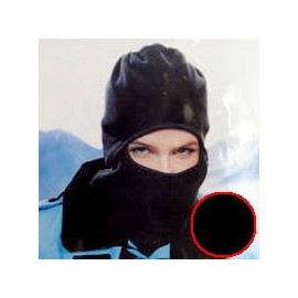 Thermal Fleece Head & Face Ski Mask Balaclava Helmet (BLACK)