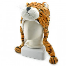 Tiger Animal Funny Mascot Plush Costume Adult Fur Hat Cap