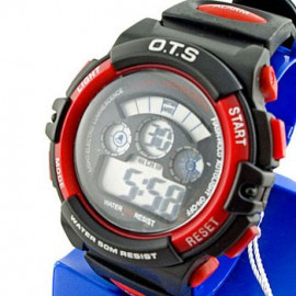 Digital Sports Men's Watch (833) (RED)