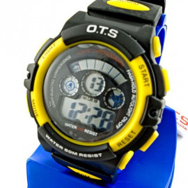 Digital Sports Men's Watch (833) (YELLOW)