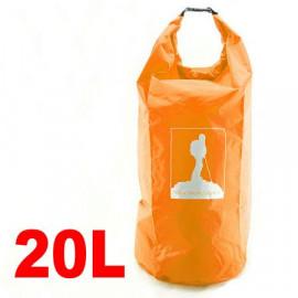 20L Waterproof Outdoor Dry Bag (ORANGE)