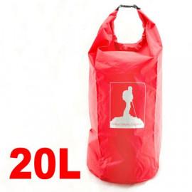 20L Waterproof Outdoor Dry Bag (RED)